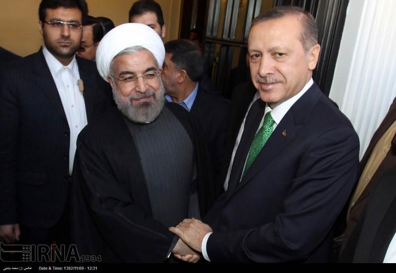 Iran's Hassan Rohani meets Turkey's Muslim Brotherhood prime minister Recep Erdogan