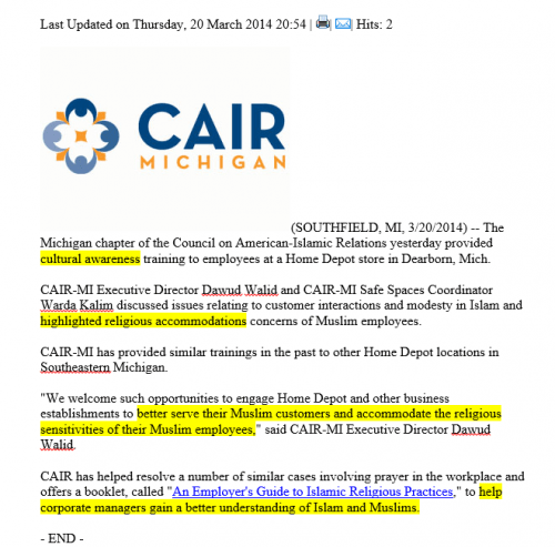 CAIR instructs businesses on how to treat Muslims