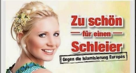 """Too beautiful for a veil"". Against the Islamization of Europe"