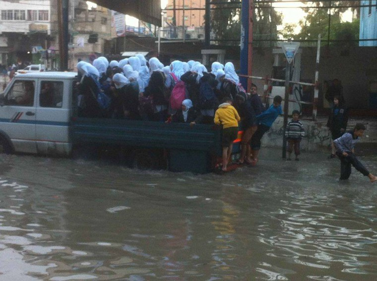 Sewage swamps Gaza streets as Egypt tunnel closures cut off power