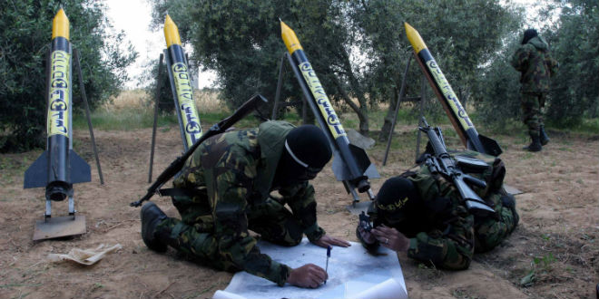 hamas-gaza-cohete de lanzamiento