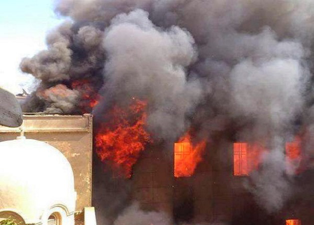 Mosul Chaldean Cathedral burned down by ISIS