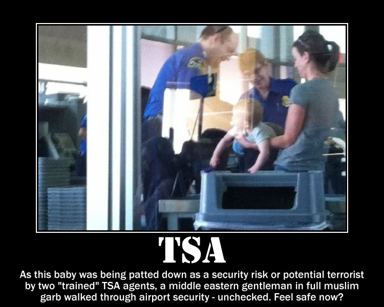 tsa airport security checkpoint arabs midle easterners profiling agents terrorists motivational posters