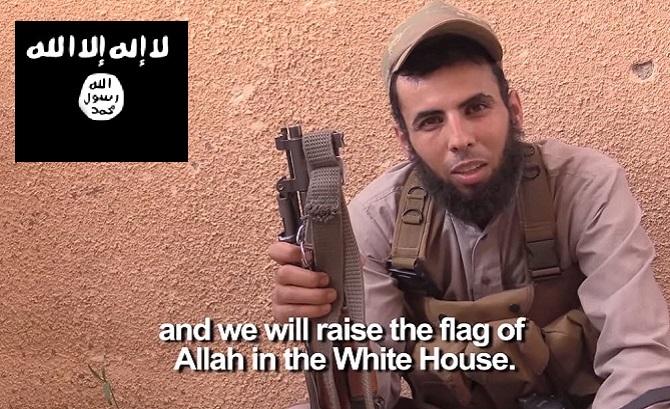 ISIS-In-America-Islamic-Terrorists-Take-Black-Flag-Photo-At-White-House-Threaten-To-Bomb-Obama