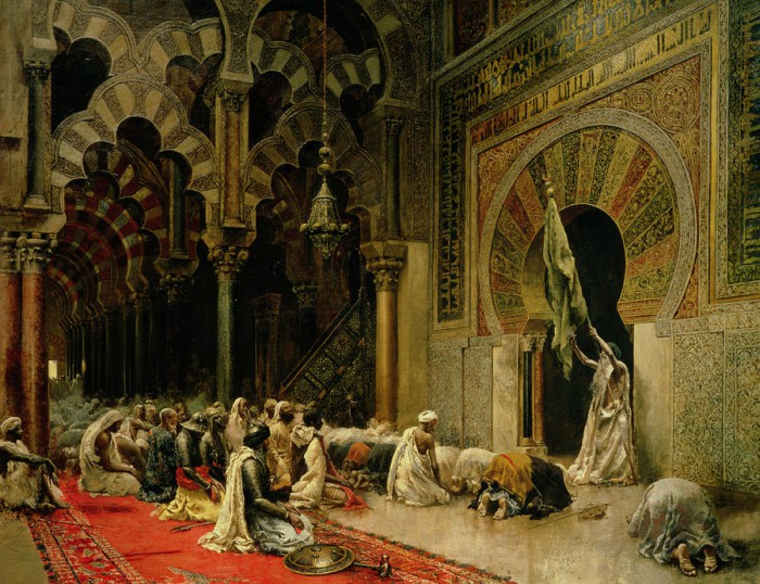 interior-of-the-mosque-at-cordoba-edwin-lord-weeks-e1398737249953