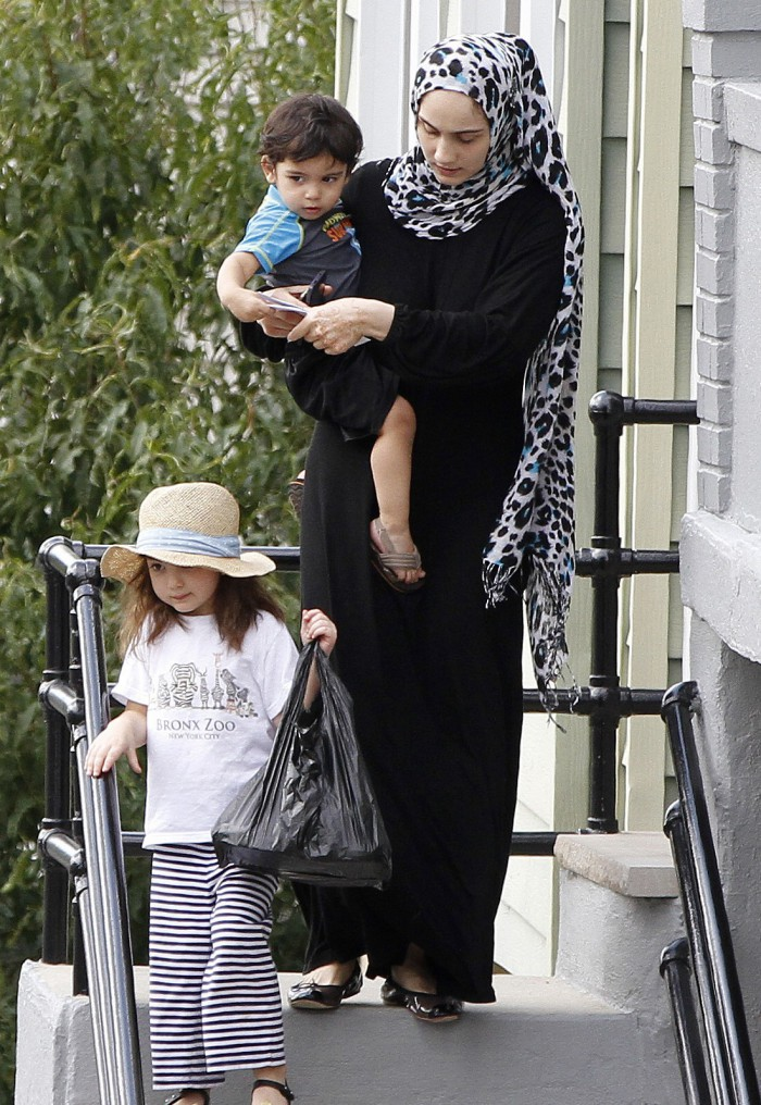 Ailina Tsarnaev with her two bastard offspring