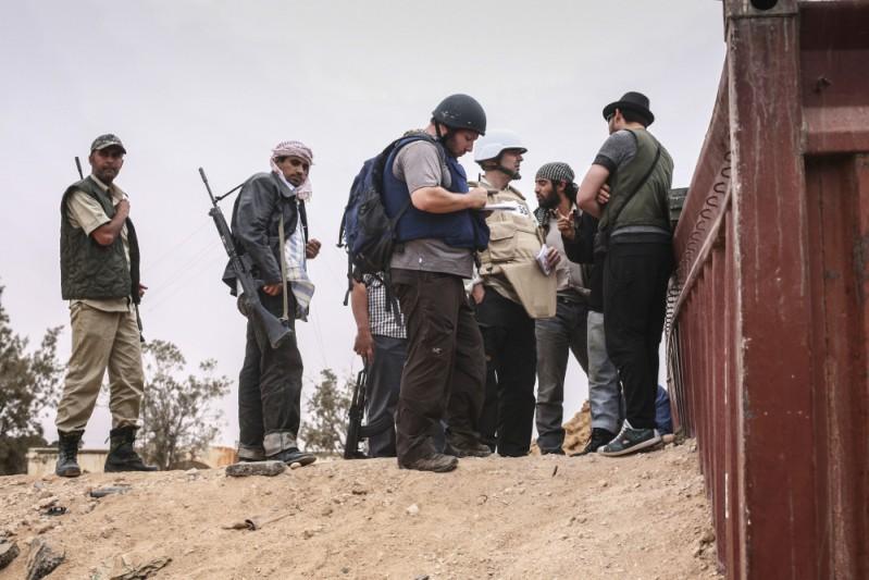 Sotloff with Libyan jihadist rebels