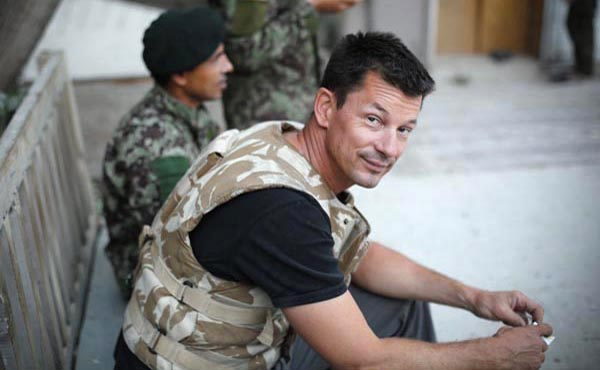 A photo of John Cantlie from 2012 before his capture by Islamic terrorists