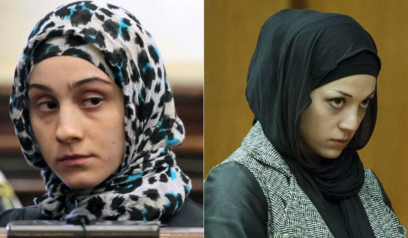 Sisters Ailina and Bella Tsarnaev