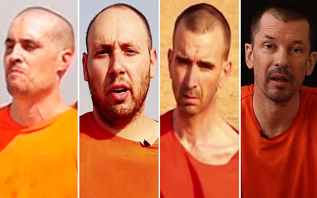 American & British hostages beheaded by ISIS in the past few weeks