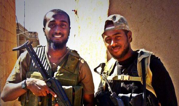 UK jihadis Mohamed (L) and Akram (R) Sebah, pictured in Syria shortly before they were killed