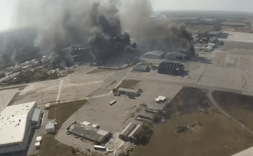 Photo of explosion from drone