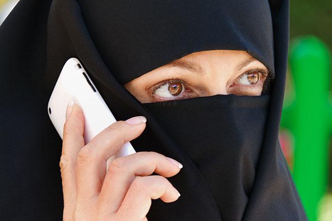 Symbolfoto Islam. Muslimische, verschleierte Frau