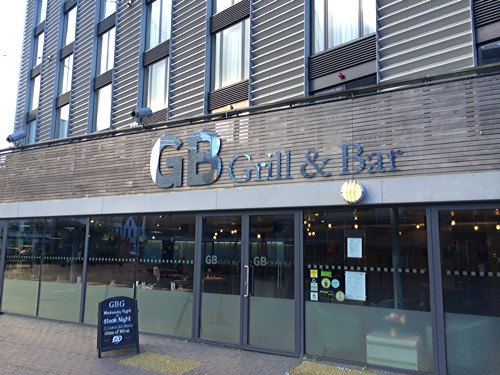 In January 2014 the restaurant of the Bermondsey Square Hotel relaunched as GB Grill & Bar