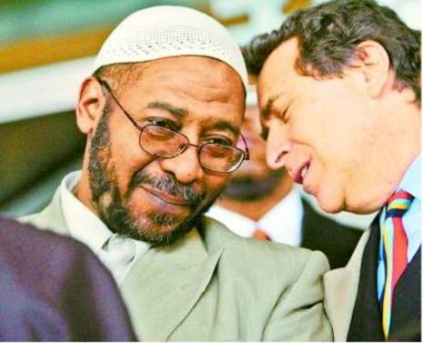 """Norman Siegel, ACLU  with Radical Imam Abdul-Jalil who said the """"greatest terrorists in the world occupy the White House"""" and urged Muslims in America to """"stop letting the Zionists of the media dictate what Islam is to us."""""""