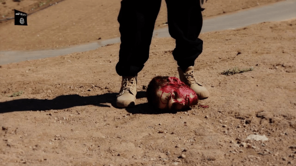 American Peter Kassig's severed head