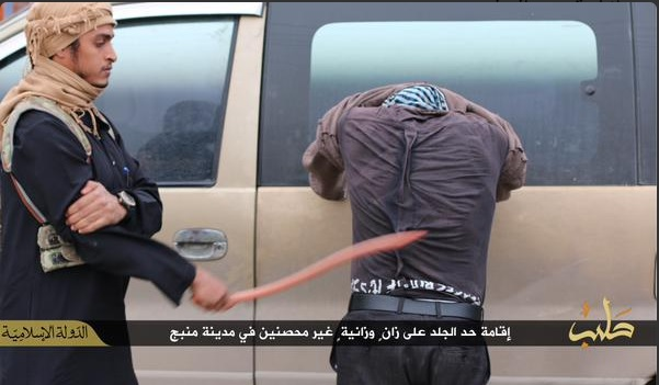 man-being-whipped-committing-adultery-manbij-syria