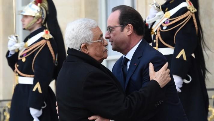 Abbas and Hollande