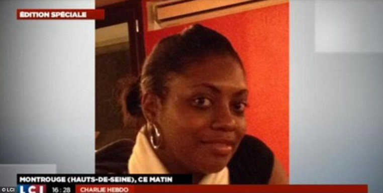 French media identified this woman as Clarissa Jean-Philippe, the young policewoman who was gunned down