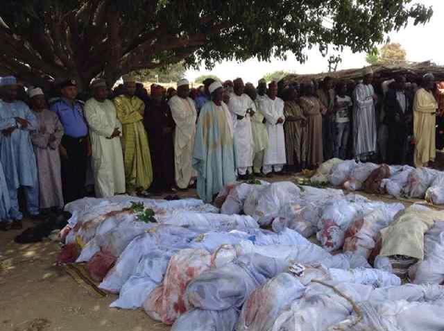 Dead bodies pile up