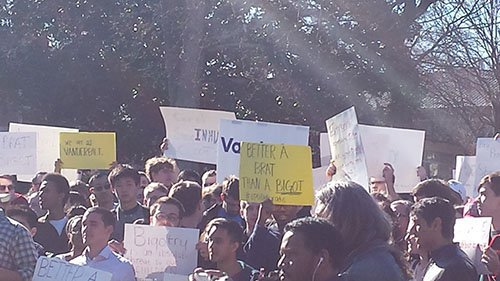 Vanderbilt Students protesting Dr. Swain's views on Islam