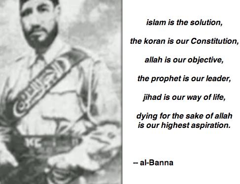 Al-Banna, founder of Muslim Brotherhood