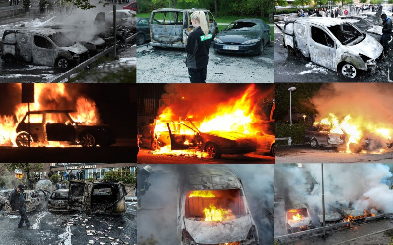 Muslims rioting in Sweden