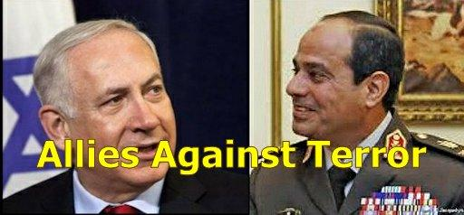 PM Benjamin Netanyahu and President al-Sisi of Egypt
