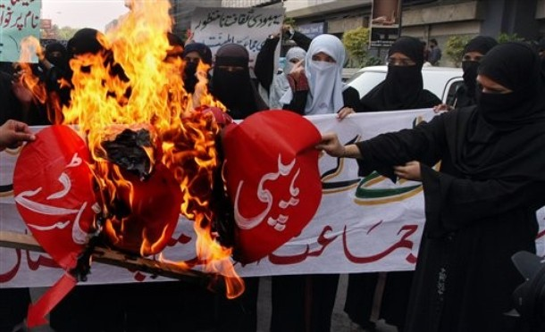Pakistan Valentine Protest