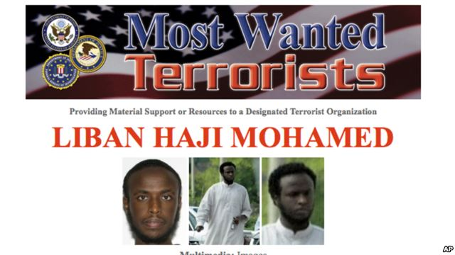 Somali Muslim terrorists wanted in the US