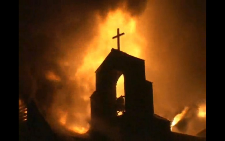quemada-iglesia
