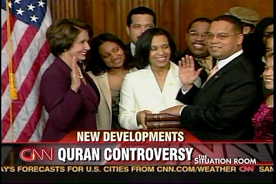 ELLISON insisted on being sworn in to Congress on a quran