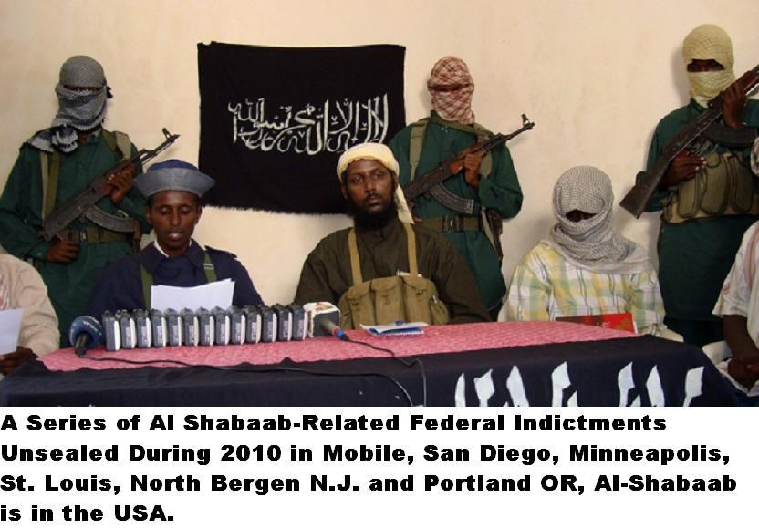 Somalia's Islamic al-Shabab spokesman Sheik Muktar Robow Abu Mansur addresses a news conference in Mogadishu