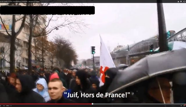 """Jews, out of France"""