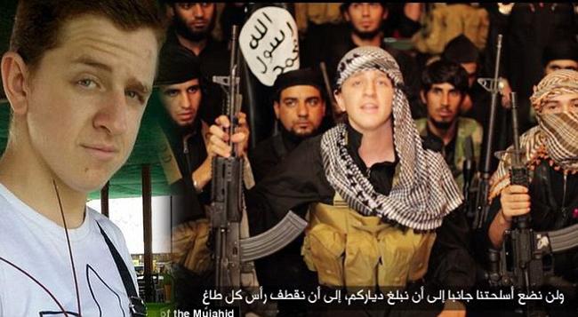 """Conocida como la """"Ginger yihadistas"""" yihadista australiana apareció en un video de propaganda Estado Islámico en el que dice que el grupo terrorista no detendrá su campaña asesina 'hasta la bandera negro está volando alto en todos los terrenos """""""
