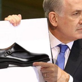 netanyahu-steals-shoes