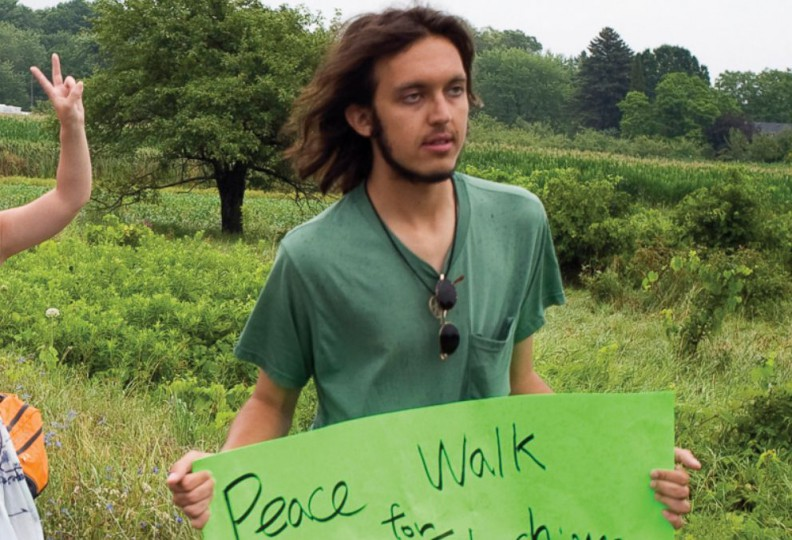 """Ciccolo, in a leftist """"peace"""" walk in 2012"""