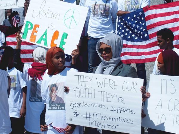 Muslims in Minnesota protest FBI crackdown on their terrorist family members