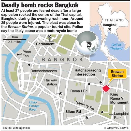 THAILAND: Bangkok bomb blast