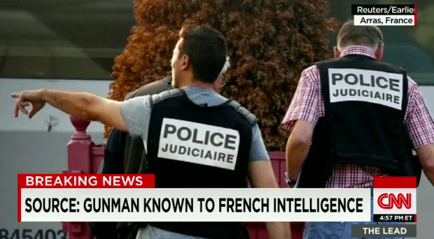 The Muslim terrorist had been under French police surveillance after foreign security services identified him as dangerous.
