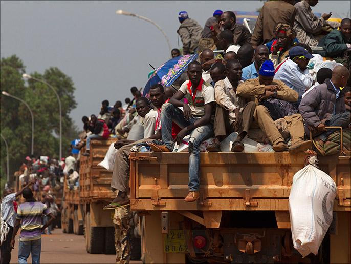 Musulmanes huyen CAR