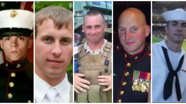Four Marines and one Sailor gunned down by Muslim savage
