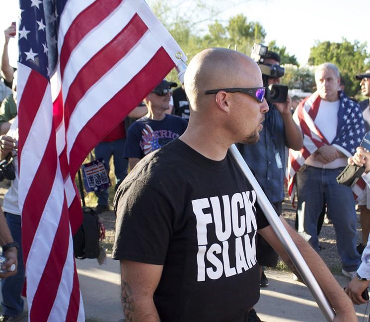Jon Ritzheimer at anti-Islam rally in Phoenix