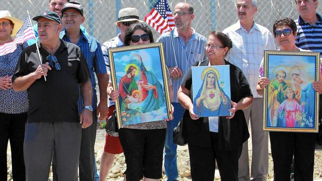 Iraqi Chaldean Christians rally in support of 27 Chaldeans being held at an ICE detention center in California. hM65SWhLqS9.99