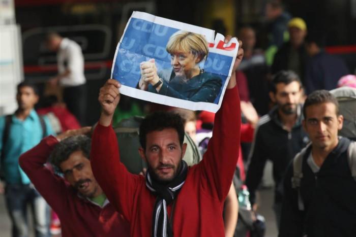 Many Germans now hate Merkel but Muslim illegals love her