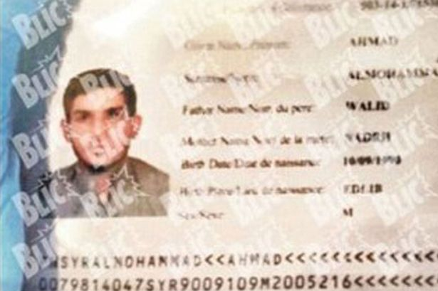 Ahmed Almuhamed's passport was allegedly found at the scene of the attacks