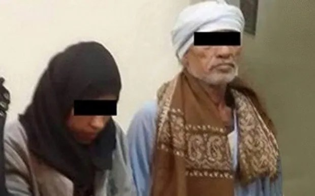 Merfat (left), 23, and her father Faraj (right), 59, were arrested for the rape and murder of 2-year-old Grace Ahmed.