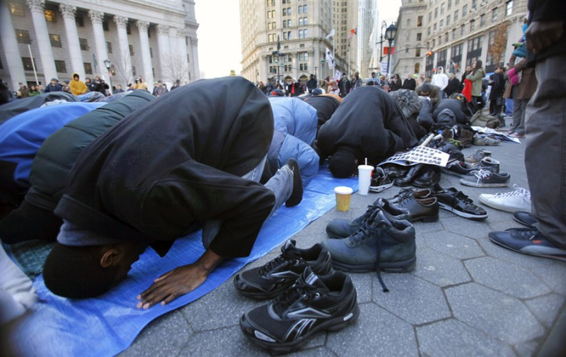 Muslims are permitted to lift their asses to Allah in the streets of NYC now