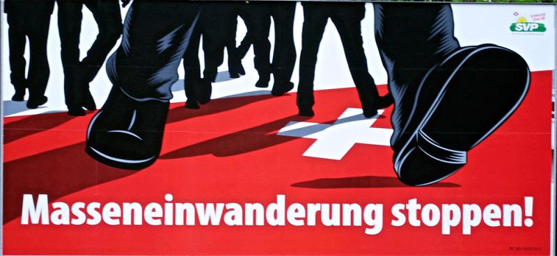 BILLOARD SWISS: Detener la inmigración masiva