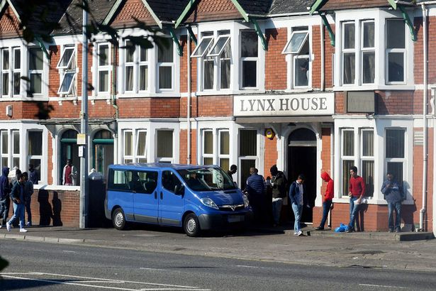 PAY-People-outside-Lynx-House-in-Cardiff